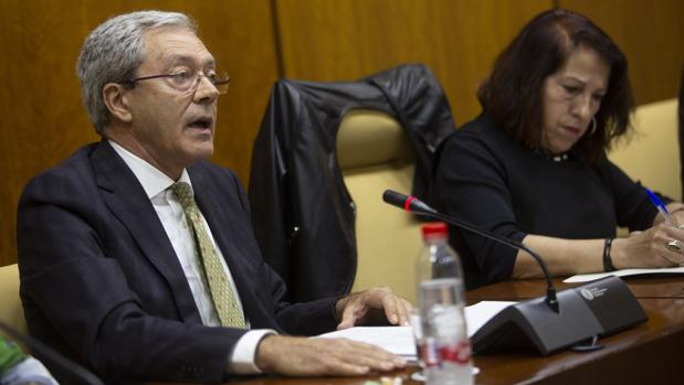 El nuevo consejero de Economía en la comisión parlamentaria