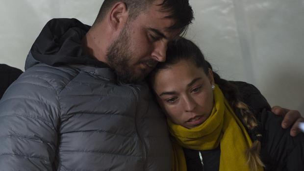 José y Victoria durante la eterna espera en Totalán
