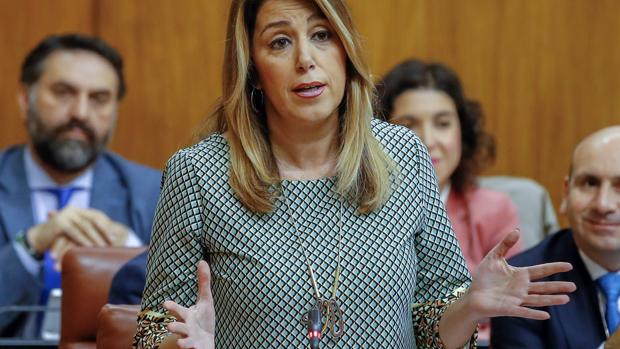 Susana Díaz, este jueves en el Parlamento andaluz