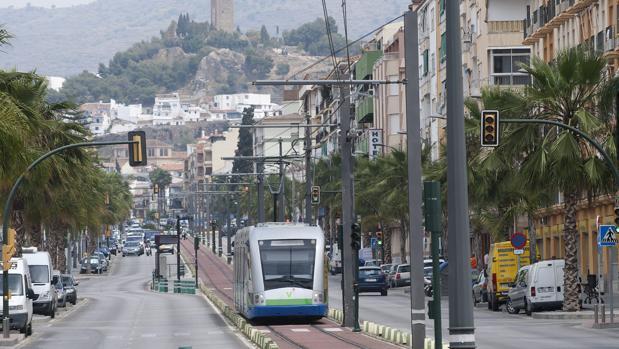 El tranvía de Vélez Málaga, poco antes de dejar de funcionar en 2012
