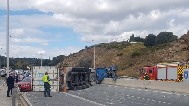 Imagen del accidente en La Cala de Mijas