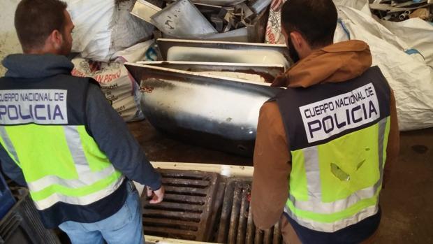 Incautación de rejillas en Estepona