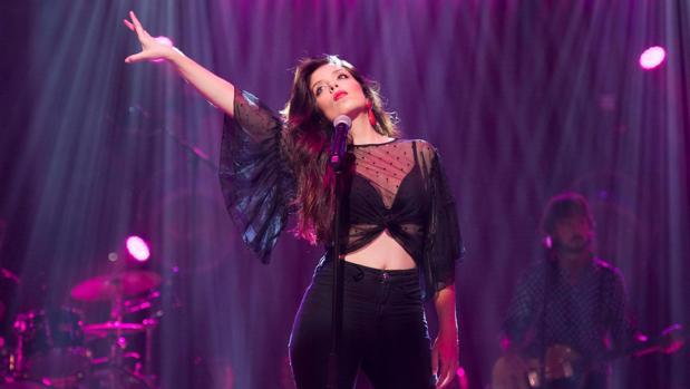 La granadina Soléa Morente, durante un concierto.