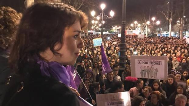 Juana Rivas, durante la manifestación del 8 de marzo del pasado año.