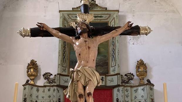 El Cristo de la Expiración, recién restaurado por Pilar Morillo y Álvaro Domínguez