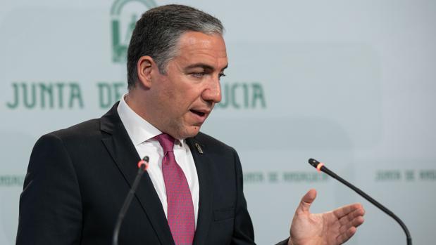 El portavoz y consejero de Presidencia, Elías Bendodo