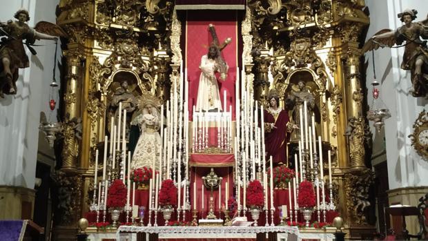 Así luce el altar mayor de San Francico