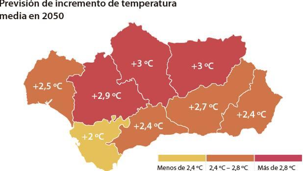 De acuerdo con los datos actuales, las temperaturas seguirán en aumento en Andalucía.