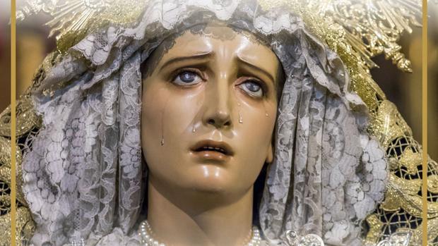 Cartel que conmemora el 75 aniversario de María Santísima de los Dolores