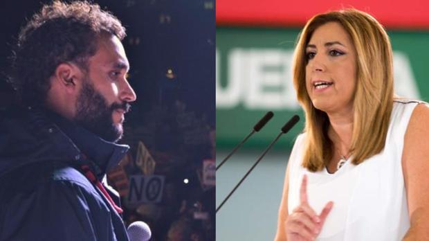 El médico Jesús Candel y la expresidenta Susana Díaz.
