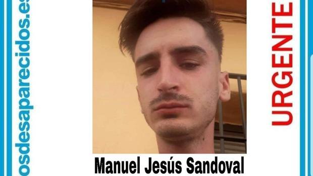 Manuel Jesús Sandoval, el joven de 26 años desaparecido en Churriana de la Vega, Granada.