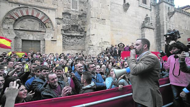 Mitin de Vox en Córdoba el pasado martes