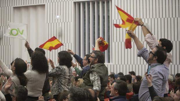 Asistentes al mitin de Vox del pasado martes en Córdoba