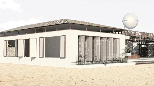 Recreación del nuevo Bibo poyectado por el cocinero Dani García para la playa de Valdevaqueros
