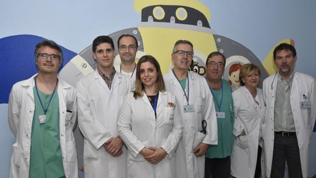 Profesionales que integran la nueva unidad de Neurocirugía Infantil del Reina Sofía de Córdoba