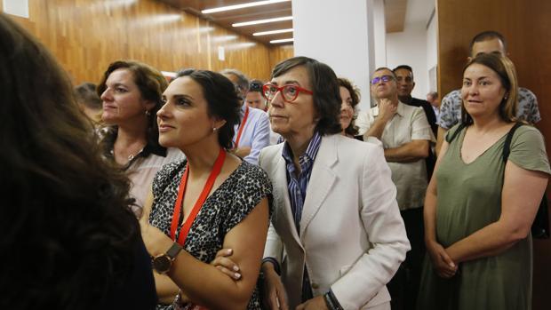 Rosa Aguilar, en la noche electoral del PSOE