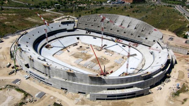 Vista aérea del nuevo estadio del Atlético