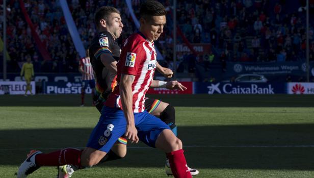 Kranevitter, en un partido de Liga contra el Rayo Vallecano