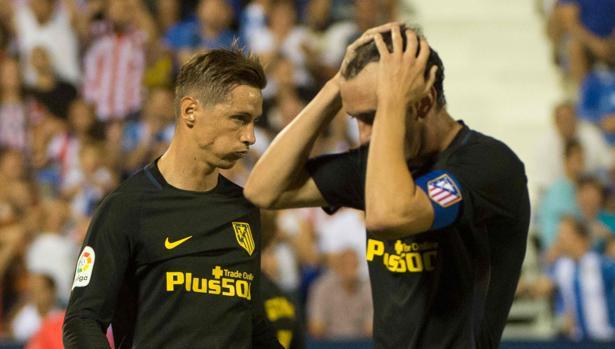 Torres y Godín se lamentand e una oportunidad fallada en Butarque
