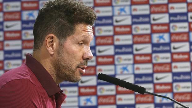 Simeone, técnico del Atlético