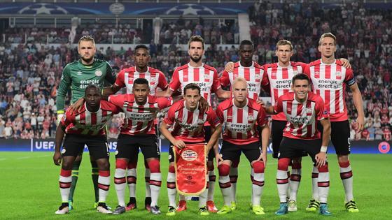La alineación del PSV en el partido frente al Atlético de Madrid