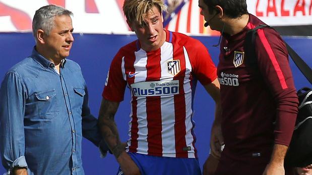 Giménez, el pasado domingo en el duelo ante el Deportivo en el que cayó lesionado