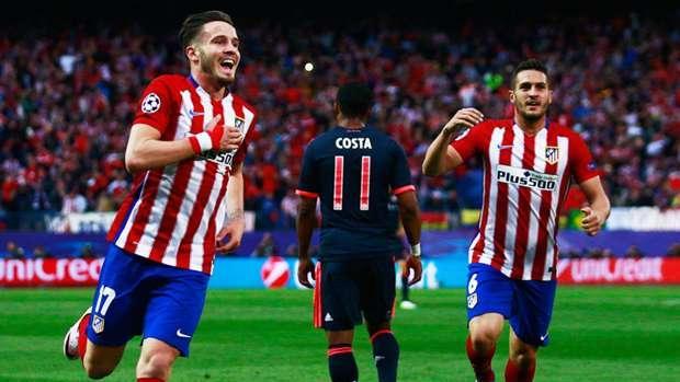 Saúl celebra el tanto marcado ante el Bayern Múnich en las semifinales de la pasada Liga de Campeones