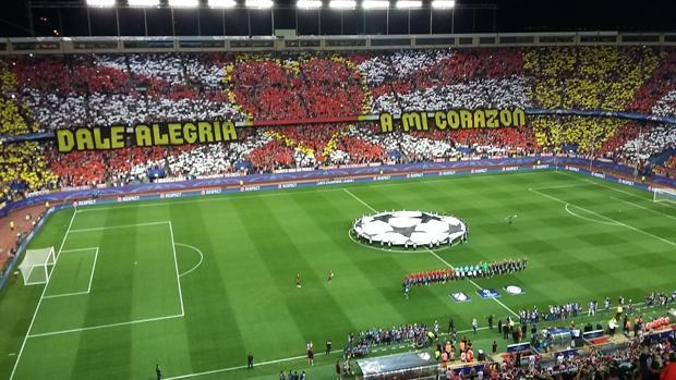 El Calderón minutos antes del Atlético-Bayern del pasado miércoles