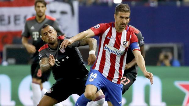Gabi, en el partido ante el Bayern Múnich en el Calderón