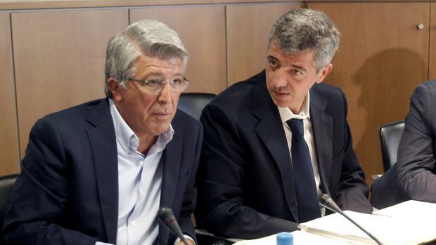 Enrique Cerezo, presidente, y Miguel Ángel Gil Marín, consejero delegado