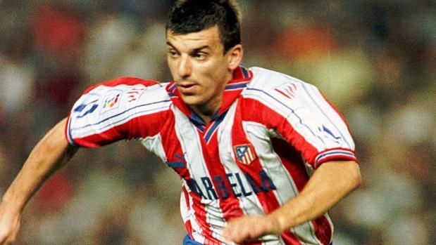 Daniel Prodan, en un partido con el Atlético