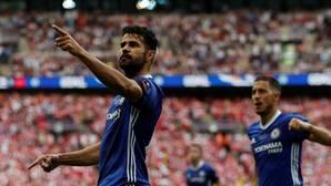 Diego Costa, tras marcar el gol del Chelsea en la final de la FA Cup