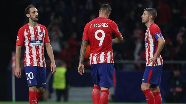 Juanfran, Torres y Gabi, tras el empate en el Wanda Metropolitano ante el Qarabag