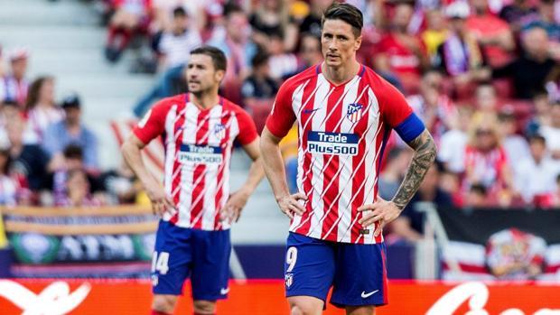 Fernando Torres, en el partido de Liga ante el Español