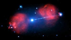 Un agujero negro dispara un rayo que mide tres veces nuestra galaxia