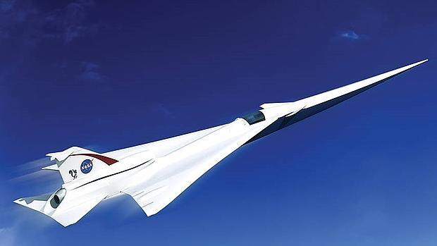 Diseño de avión supersónico con el motor integrado en el fuselaje