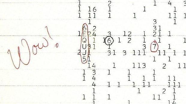 La señal «Wow!», la única obtenida por el programa SETI