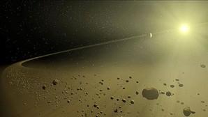 Recreación de los alrededores de la estrella KIC 8462852, en los que algunos han encontrado indicios de una civilización extraeterrestre