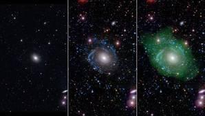 Descubren una galaxia siete veces mayor que la Vía Láctea y que crece al revés
