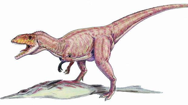 Reconstrucción del megalosáurido Eustreptospondylus, del Jurásico medio