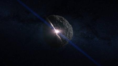 Recreación artística del impacto que creó el asteroide Bennu