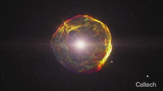 Una imagen de la simulación del nacimiento de la Vía Láctea