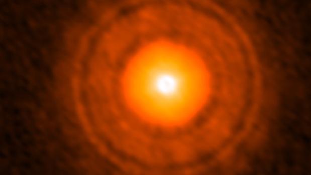 Imagen del telescopio ALMA del disco alrededor de la estrella TW Hydrae