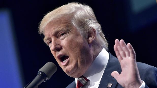 Donald Trump, candidato republicano para la presidencia de Estados Unidos, durante un discurso celebrado este jueves en Pensilvania