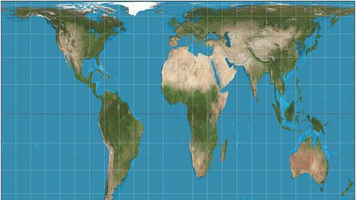 Mapa de Gall-Peters.