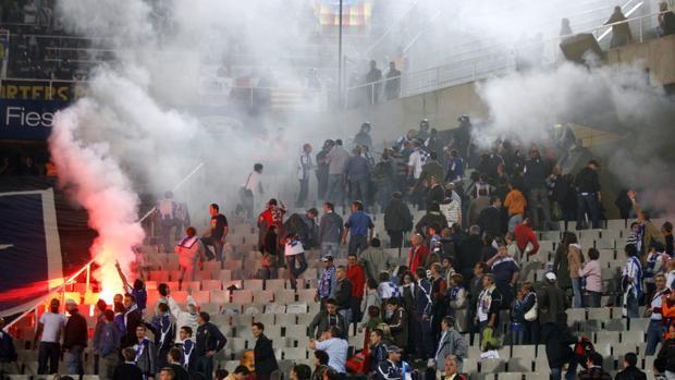 La violencia está presente incluso en competiciones deportivas