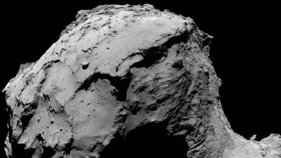 El lugar de impacto de Rosetta, a la vista