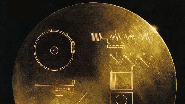 Uno de los discos de las Voyager