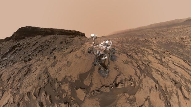 Autorretrato del Curiosity en las colinas de Murray