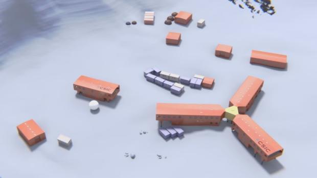 Imagen de la futura Base Antártica Española (BAE)
